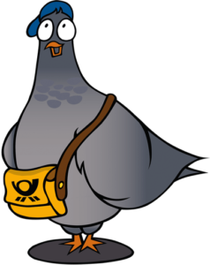 Thilo die Taube Illustration