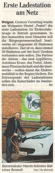 Nachhaltigkeit Zeitungsartikel